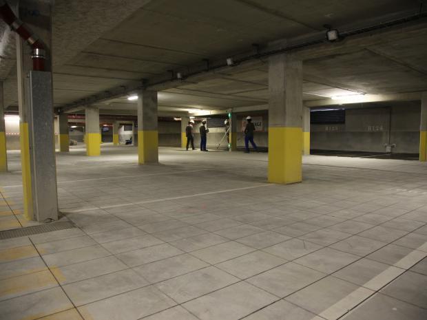 Vue générale du parking et de la pathologie